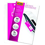 Fellowes Laminating Pouches, Thermal, Luggage Tag with Slot, 10 Mil, 100 Pack (52062)