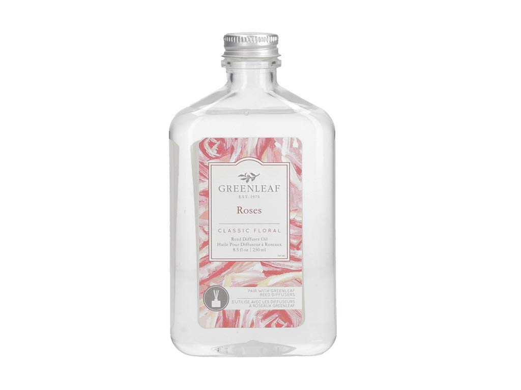 GREENLEAF Reed Diffuser Oil - Roses - Last Up to 3 Months - Made in The USA