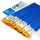 Best Acrylic Paint Brushes - 50 Pcs Flat Paint Brushes Set with Synthetic Review