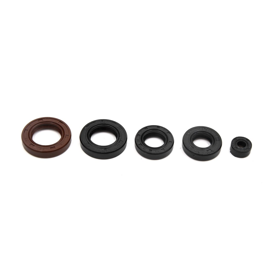Sourcingmap Black Round Shape Ring Motorcycle Scooter Engine Oil Seal Washer Kit for CG 125