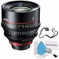 Canon CN-E 135mm T2.2 L F Cinema Prime Lens (EF Mount) (International Model no Warranty) + Deluxe Cleaning Kit + Lens Cap Keeper 6AVE Bundle 2