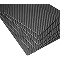 ZSJ New Hot Sale Mini Twill Matte Carbon Fiber Sheet 1.0X200X250mm 3K Twill Matte Wrapped Carbon Fiber Plate Panel For RC Drone Testing 1piece/Pack