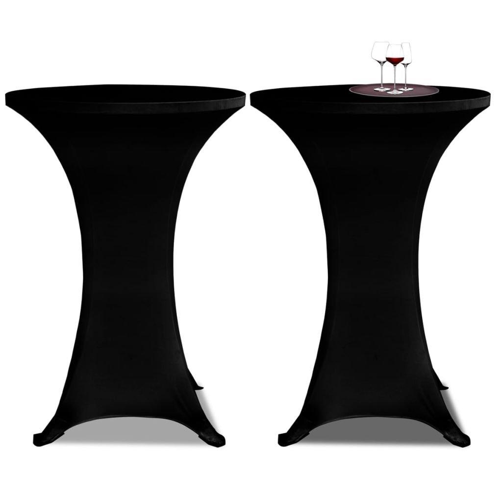 2 tovagliette neri aderenti per tavolo di pie – 60 cm Diametro