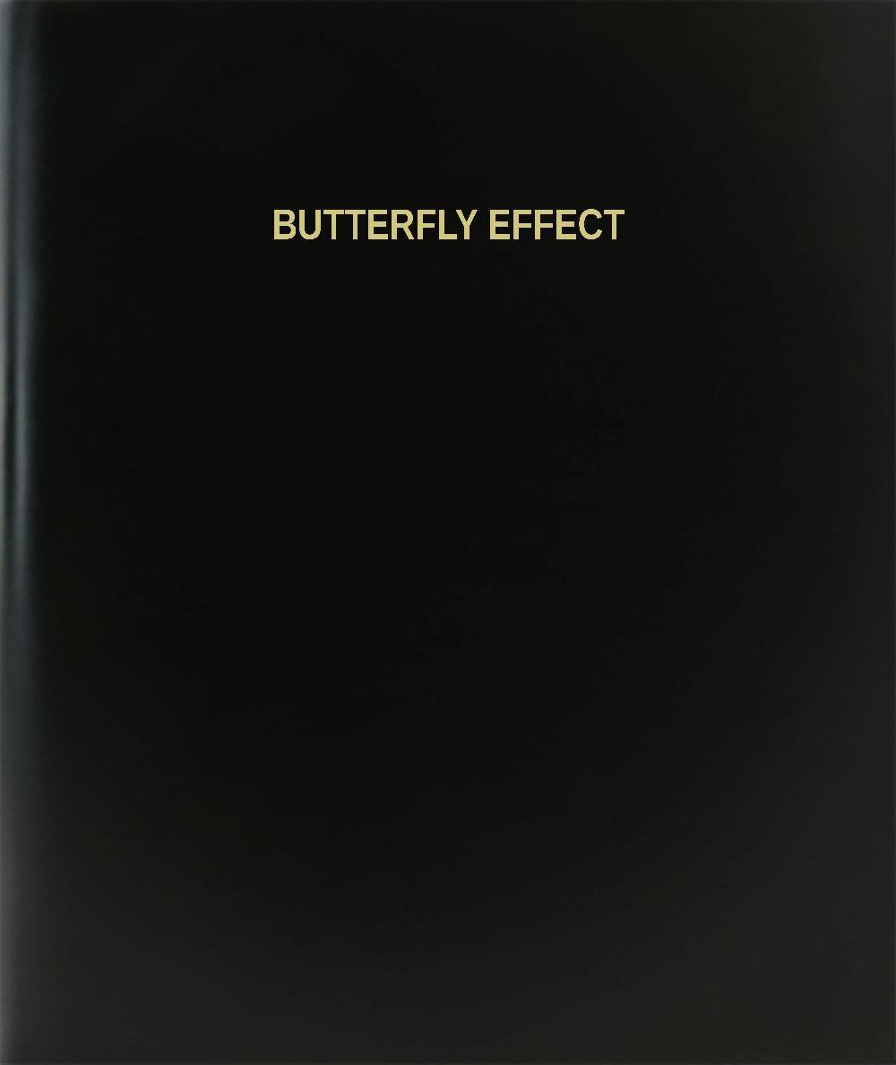 BookFactory® Efecto Mariposa libro de registro/diario/diario página – 120, 8,5 Hardbound