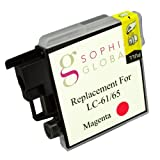 Sophia Global VACSGA000385 Compatible Ink Cartridge Replacement for Brother LC61, 1 Magenta Ink