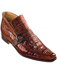 """Nominee"" 42731 Hand Painted Baby Crocodile & Ostrich Leg Boot"