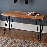 Alaterre Furniture Hairpin Natural Live Edge Wood