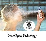 Nano Mist Sprayer, Wochuan Nano Facial Steamer,Cool Mist Facial Mister,Beauty Sprayer,USB Rechargeable with power bank,Portable & Mini Electronic Hydrating Sprayer White