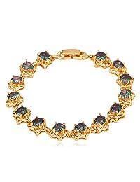 U7 Girls Women Bracelet 18K Gold/Platinum Plated Zirconia Tennis Bracelet Fashion Jewelry for Women