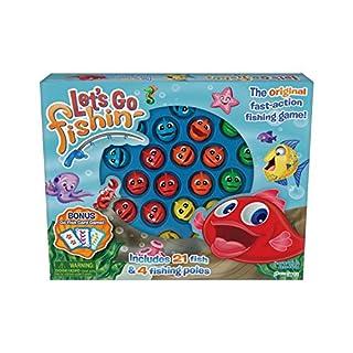 Pressman 58 Let's Go Fishin' Combo Game, Includes Go Fish Card Game