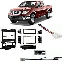 Fits Nissan Frontier 09-12 w/ Black Dash SDIN/DDIN Harness Radio Install Kit