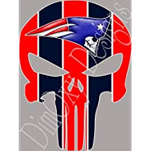 New England Patriots Punisher Vinyl Decal Sticker Full Color (Car, Truck, Boat, Wall, Window, Etc.)