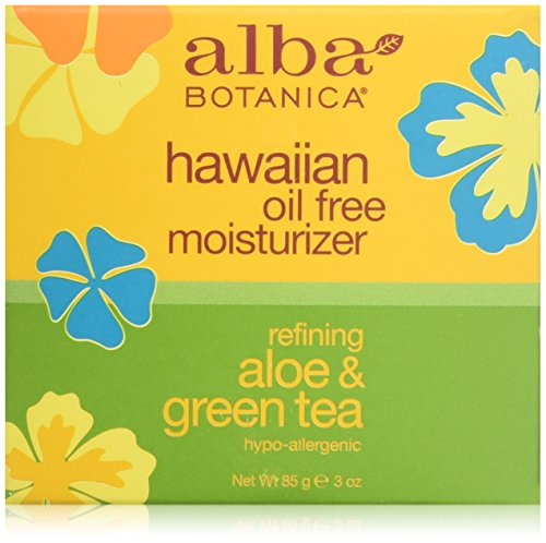Alba Botanica Hawaiian Oil-Free Moisturizer, Aloe & Green Tea, 3 oz.
