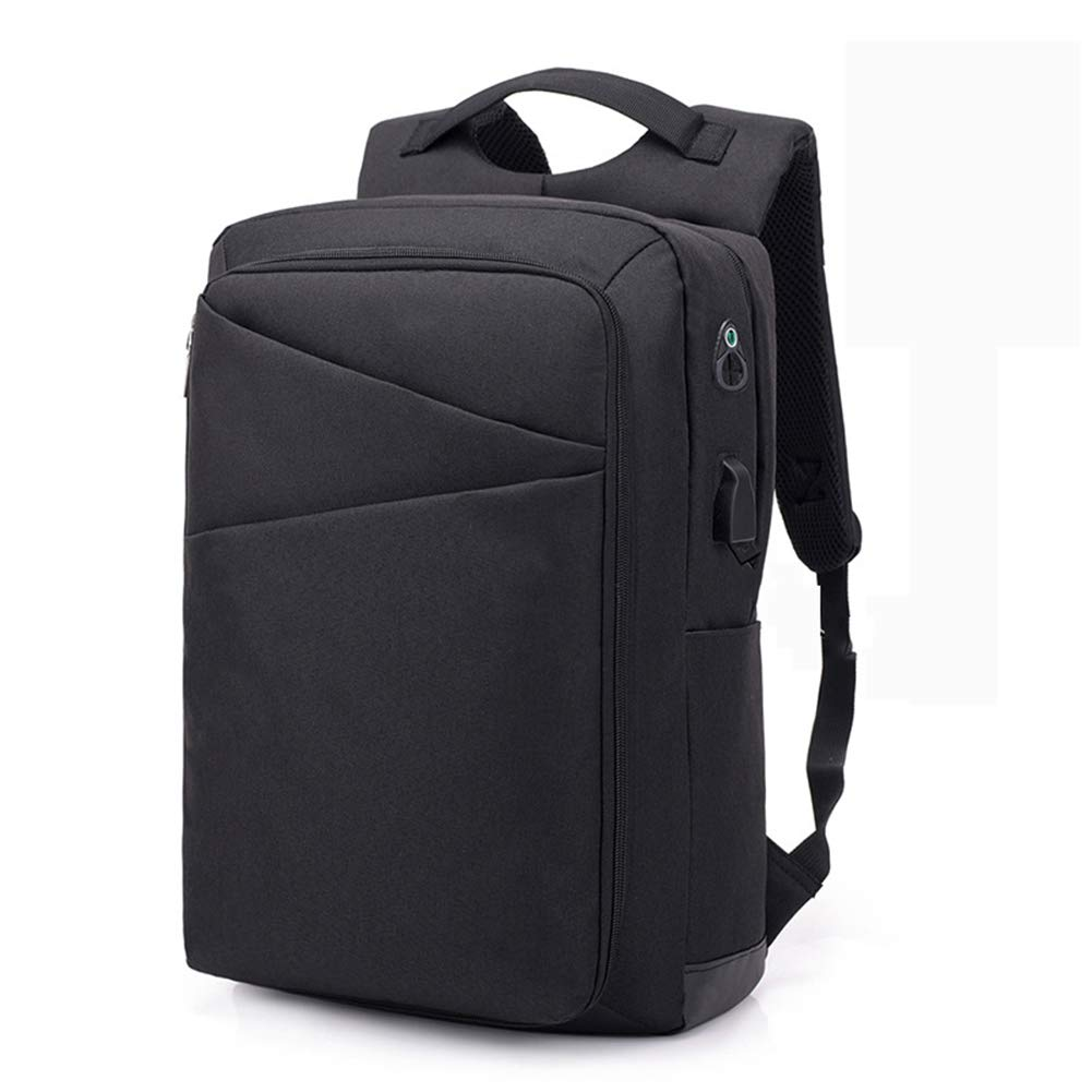 Kläsiger Rucksack mit USB-kostenpflichtigen Port Laptop Rucksack Business Travel Anti-Theft Waterproof Large Fach College School Work Backpack,schwarz