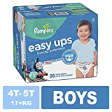 Pampers Easy Ups Pull On Disposable Training Diaper for Boys Size 6 (4T-5T), Super Pack, 56 Count