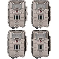 Bushnell 20MP Trophy Cam Low Glow Trail Camera, HD Aggressor, Tan, Records 1080p Video with Audio (4-Pack)