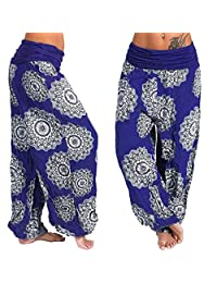 Muramba Clearance Pants Womens Plus Size Loose Print Harem Wide Trouser