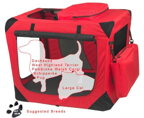 PET GEAR Generation II Soft Crate SMALL RED PET by Pet Gear