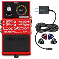 Boss RC-1 Stereo Loop Station -INCLUDES- Blucoil Power...