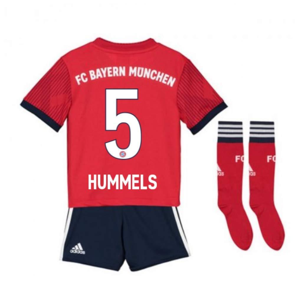 UKSoccershop 2018-2019 Bayern Munich Adidas Home Little Boys Mini Kit (Mats Hummels 5)