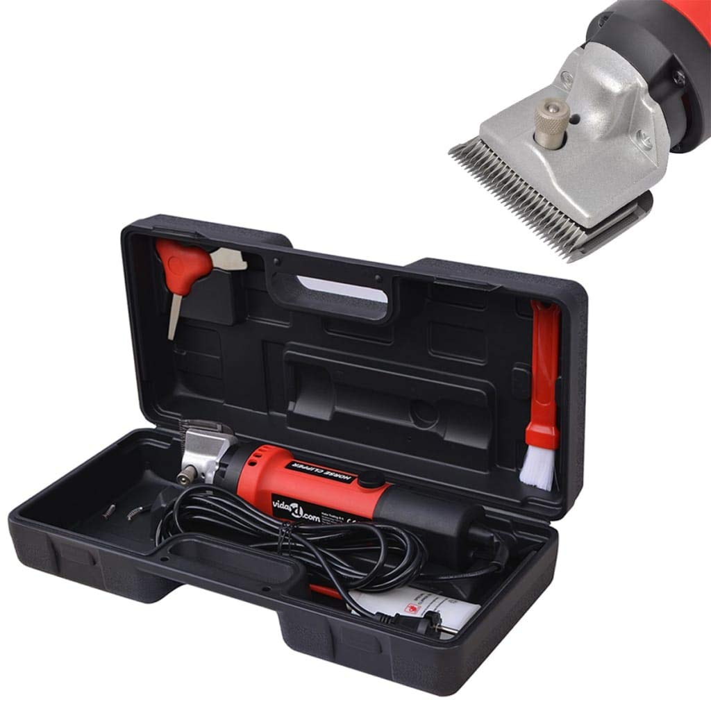 VidaXL 6 Piece Horse Clipper Set 350 W Animal Shearing Grooming Tool Trimmer