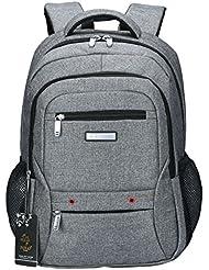 VIDENG POLO Canvas Sports Backpack,15 17 inch Laptop Bag Casual Travel Handbag Bookbag for School College