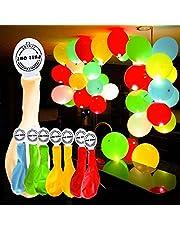 YOHOOLYO 50pcs Palloncini Colorati LED Palloncini Luminosi Luce Led 30cm per Decorazione Natale Festa Matrimonio Compleanno ecc