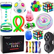 Sensory Fidget Toys Bundle-DNA Stress Relief Balls with Fidget Hand Toys for Anxiety Kids & Adults-Calming