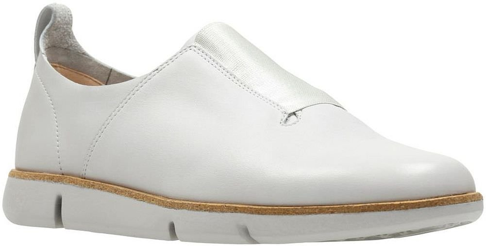 CLARKS Womens Tri Form B0754MZ7JX 6 B(M) US|Light Grey Leather