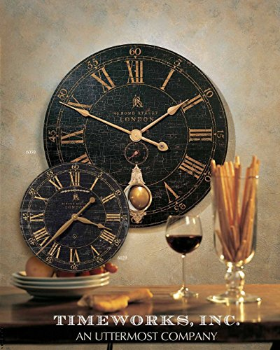 extra large metal wall clocks uk outdoor the range round brass pendulum clock black crackled face