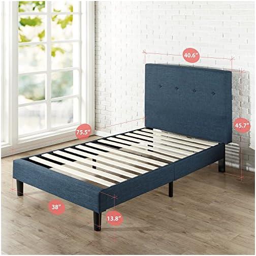 ZINUS Omkaram Upholstered Platform Bed Frame / Mattress Foundation / Wood Slat Support / No Box Spring Needed / Easy…