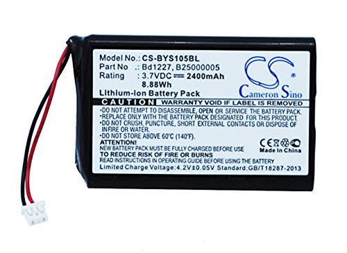 Cameron Sino 2400mAh / 8.88Wh Battery Compatible with Baracoda Roadrunners Evolution 1D, BRR-L Evolution, YYS1-1056730, BRR-L, B40160100 and Others