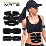 IMATE Abdominal Toning Belt,Weight Loss Belt, ABS Toner Body Muscle Trainer Lazy Man Electrical Muscle Stimulation(EMS) Exercise Equipment