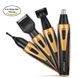 Actoper Nose Hair Trimmer, [Newest Version] 4 in 1 Rechargeable Nose Trimmer/Nose Ear Trimmer/Bread Trimmer/Sideburn Trimmer/Eyebrow Trimmer Stainless.