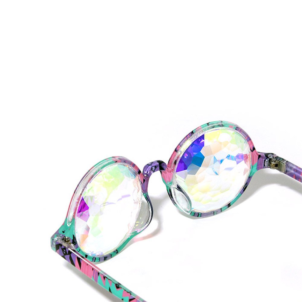GloFX Aztec Kaleidoscope Glasses – Rainbow - Rave Rainbow EDM Diffraction by GloFX (Image #5)
