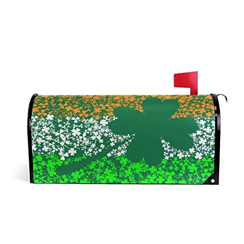 (WOOR Irish Flag Magnetic Mailbox Cover Oversized-25.5