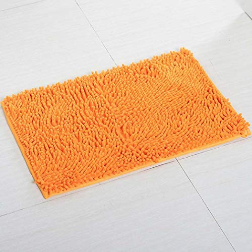 (Non-Slip Shaggy Chenille Doormat Soft Microfibers Bathroom Mat with Water Absorbent Rug Machine Washable Carpet )