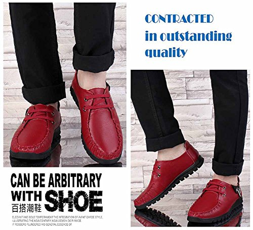 GLSHI Hommes Occasionnels Oxford 2018 New Business Tie Dress Chaussures Mode Confort Loafer Rouge mq0y4