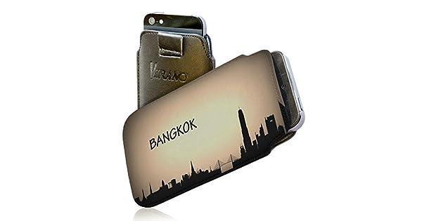 Amazon.com: Voyage Bangkok, Thailand, Embossed Black PU ...
