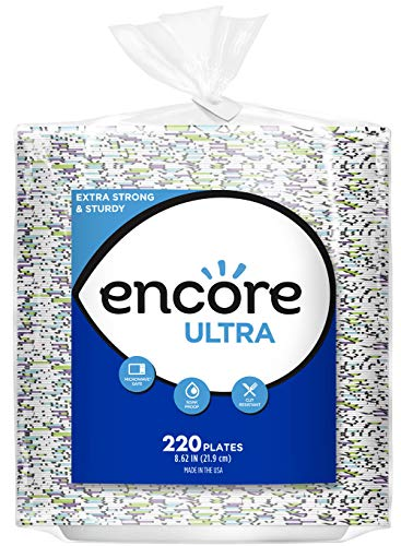 Encore Ultra Paper Plates, 8.62 Inch, Inch (Pack of 880)