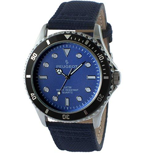 peugeot-mens-blue-quartz-metal-and-canvas-sport-watch-colorblack-model-2057bl