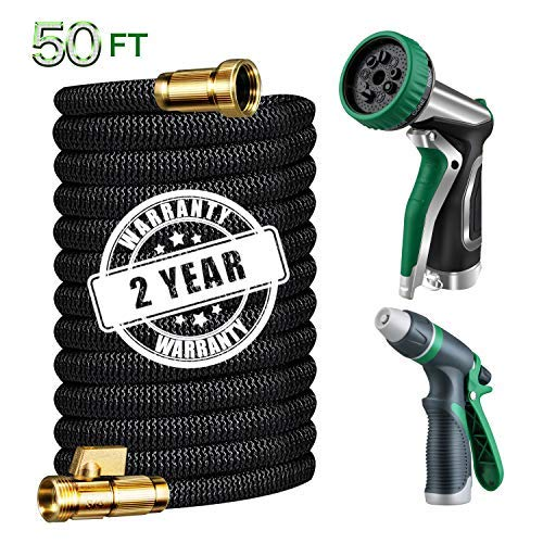Garden Hose 50 ft,Expandable Water Hose with Spray Nozzle&Car Washing Nozzle