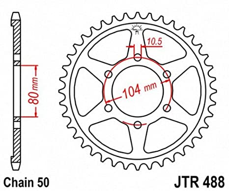 JT Sprockets JTR488.45 45T Steel Rear Sprocket