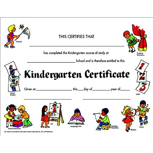 Certificates Kindegarten Set Of 30 (Set of 30) by HAYES SCHOOL PUBLISHING