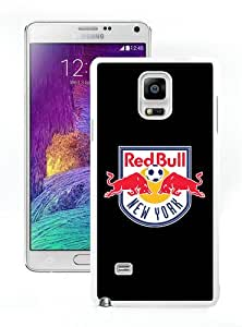 WOSN New York Red Bulls 18 White Case Cover for Samsung Galaxy Note4
