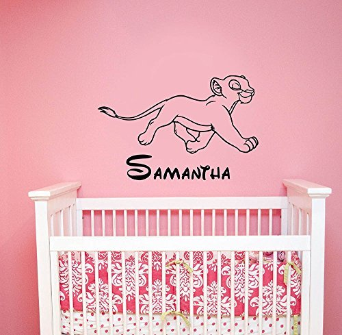 Nala Custom Name Decal Vinyl Sticker Lion King Wall Art Housewares Disney Decorations for Home Kids Childrens Girls Room Nursery Bedroom Personalized Decor ling16