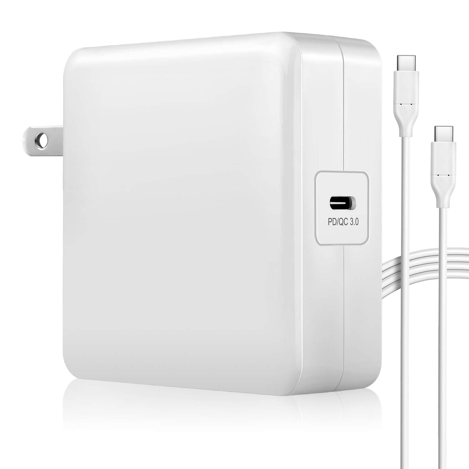 87w USB-C Power Adapter Compatible with MacBook Pro Charger USB C 87w New MacBook Air Charger 2018 13 Mac Thunderbolt Charger 2016 15 2017 Type C Laptop Charger More Devices(87w)