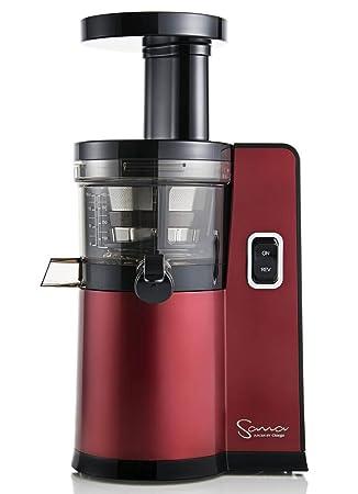 Omega - Exprimidor de zumo vertical sana by 808 (nuevo) rojo: Amazon.es: Hogar
