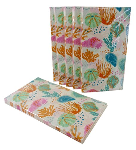 Bulk Buy: Summer Beach Seashells Paper Guest Towels/Dinner Napkins. (16) Napkins/Pkg, Pack of (6) by Party!