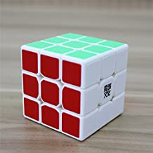 GoodPlay Moyu Tanglong 3x3x3 Sticker Speed Cube Puzzle, White(+One Cube Bag)